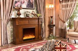 Remplacement marron Insérer Foyer électrique Poêle à bois Fire Pit