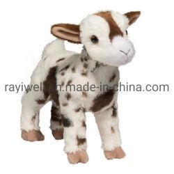 Capra resa personale molle eccellente su ordine della peluche del giocattolo farcita pecore del giocattolo