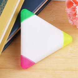Billig 3 in 1 Dreieck-Leuchtmarker-Feder mit kundenspezifischem Firmenzeichen für Förderung