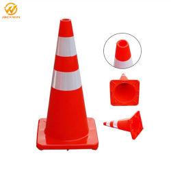 China Fornecedor Ouro Cones de trânsito 28 polegadas/Cone de Segurança/Cone PVC de tráfego