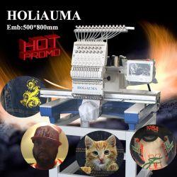 Holiauma швейной промышленности высокого качества для продажи одной головкой, Поло одежда вышивка цены на машины с вышивкой области 500*800 мм