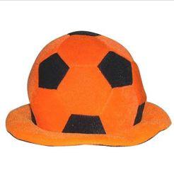 Yiwu مصنع مصنعي المعدات الأصلية لكرة القدم مروحة ملونة قبعة مروحة مجنون قبعة حزب مروحة كرة القدم البوليستر