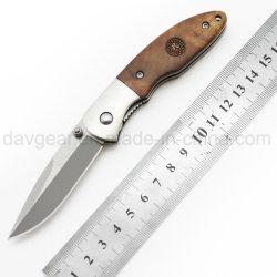 EDCシリーズは3.5毎日のためのインチによって閉じられるギフトのナイフ420のステンレス鋼の汚れの刃そして木ハンドル屋外およびキャンプを運ぶ