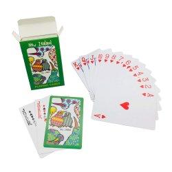 مخصص رخيصة الترويج شعار شركة الطباعة ورقة بوكر لعب بطاقات
