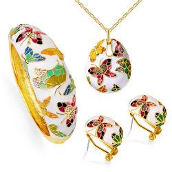 De in het groot Reeks van de Juwelen van de Vlinder van het Email van het Huwelijk van de Gift van de Bevordering van de Toebehoren van de Juwelen van de Manier van de Vrouwen van het Ontwerp van het Huwelijk van de Manier