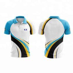 Nouveau style de l'impression personnalisée Polo shirt décontracté solide le raccord en T