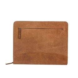 Portefeuille en cuir marron Zipper PU Dossier de fichiers