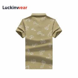 Polo-Hemd-Schwarz-weißes grünes Entwurfs-Mann-im Freiensport-Hemd-kundenspezifisches Team-Hemd der kundenspezifischen Firmenzeichen-Männer beiläufiges