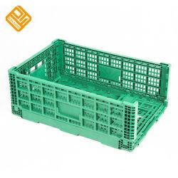 농장 플라스틱 용기 식물성 쌓을수 있는 접히는 크레이트 상자