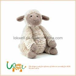 Bambola molle gigante bella delle pecore dell'animale farcito delle pecore della peluche dell'agnello