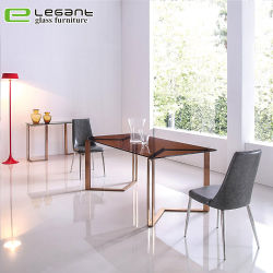 Modernes populäres klassisches quadratisches Glasspeisetisch-Set
