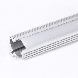 Angle de 120 degrés 2.5m voyant LED d'angle de profil aluminium extrudé avec lentille et clips de fixation