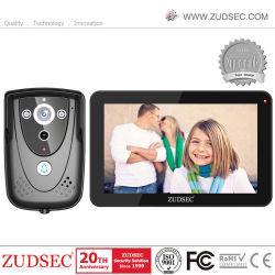 Telefono del portello della villa di colore di 9 pollici video con la scheda di RFID