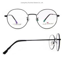 Guangzhou gros design rétro personnalisé de haute qualité des verres de lunettes en métal de titane or Châssis optique