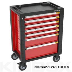 248 Herramienta Kinbox PCS Siete Cajones encimera de armarios de rodillos de plástico