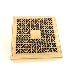 Vendita all'ingrosso bruciatore di incenso in legno scatola regalo rotonda