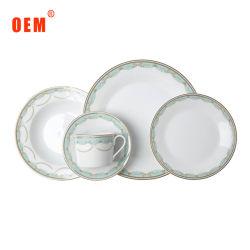 Домашняя керамические пластины цветочный 20ПК посуды из фарфора фарфор