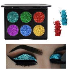 Les paillettes brillantes Six-Color Diamond Eye Shadow Poudre