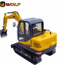 La Chine de gros 6.5T Wolf nous65 excavatrice chenillée hydraulique avec le GPS