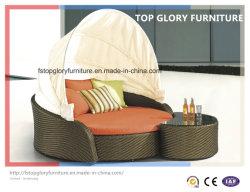 La playa al aire libre Muebles de jardín tumbona ratán desmontar un sofá cama Hamaca