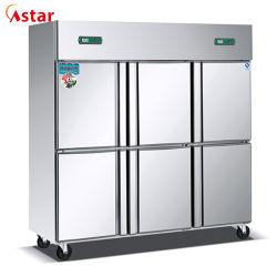 La Chine Double-Temperature Cuisine acier inoxydable 1600L'un réfrigérateur avec six portes