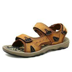Hersteller-Sandelholze mit Kuh-Leder, Sport-Sandelholz-Schuhe, hochwertige Sandelholz-Schuhe für Männer. Sandelholz-Schuh-Fabrik und preiswerter Preis-Großverkauf