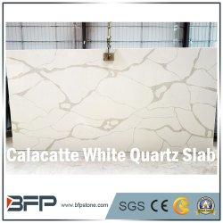 Естественный вид Calacatta белый мрамор искусственный камень кварц слои REST для мойки