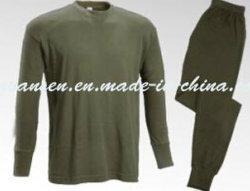 O inverno roupas íntimas Suit Thermal em Oliva verde com design simples