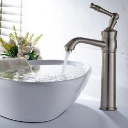 Матовый Nickle Flg одиночный рычаг холодной и горячей струей воды бассейна струей воды в ванной комнате