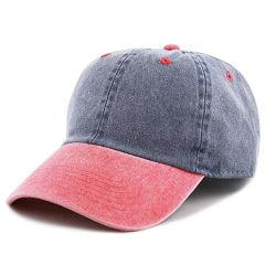 Kundenspezifische Großhandelsstickerei 6 Panel-Hüte strukturierte Baseballmütze