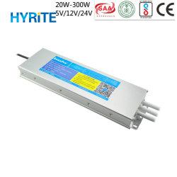 Bis Ce Saso 300W 12V Impermeable IP67 LED Fuente de Alimentación