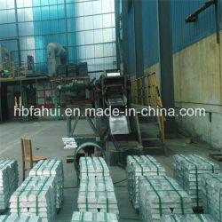 La norma nacional de alta calidad de lingotes de zinc puro un 99,995%