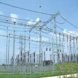 Ligne de transmission électrique galvanisé à chaud Self-Support Structure des postes électriques
