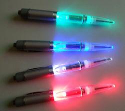 Stylo à bille OEM avec éclairage LED pour cadeau de promotion