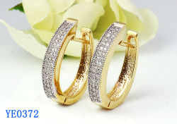 Gioielli Da Donna 925 Sterling Silver O Brass Fashion Cubic Zirconia Large Hoop Earrings Hotsale