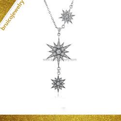 Poignée de commande de la personnalité de conception personnalisée Star Necklace Silver Jewellery Necklace