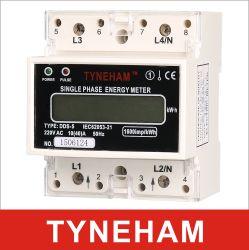 1 Rial van dds-5 Reeksen DIN zette Meter van de Energie van de Enige Fase de Elektronische op