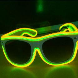 Alambres estilo de doble color EL Iluminado Rave Glasses