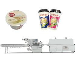 即席めん類のコップのコップの茶ボールのヌードルの紙コップの自動枕流れの熱の収縮のフィルムの包む機械パッキング機械装置