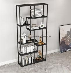 Étagère de rangement en acier inoxydable de gros ménage Affichage nordique de stockage d'étude du cabinet du châssis de meubles d'étagère