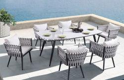 Il giardino della mobilia dell'hotel di alloggio presso famiglie imposta la Tabella pranzante esterna