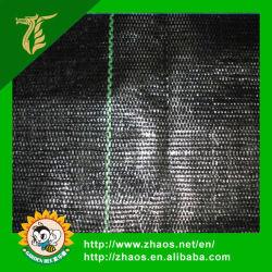 La couverture du sol de mauvaises herbes en plastique noir mat