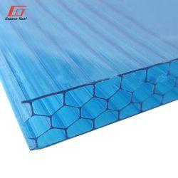 Folha de PC de preço mais baixo em policarbonato Lexan Parede dupla Folha oca de policarbonato com efeito de estufa