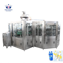 自動びん詰めにする機械を満たす自動びんラインプラント飲料かジュースによって炭酸塩化される飲み物のソーダまたは清涼飲料または水ミネラル純粋な水液体