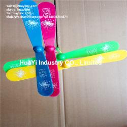 Pie de imprenta Logo Glow-plástico de bambú de la libélula de juguete