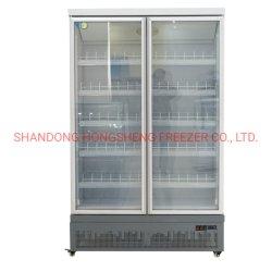 Estensione dritta del Merchandiser di vetro 1-Door in frigorifero della visualizzazione del dispositivo di raffreddamento della bevanda