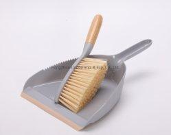 Plastica e bambù Dustpan con spazzola di strumento di pulizia su Vendita a caldo della mano