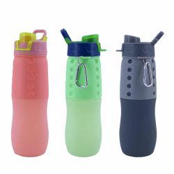 2020 Novo dobrável de Silicone Sports Cup 500ml criativo do turismo no exterior da garrafa de água do desporto podem ser personalizados