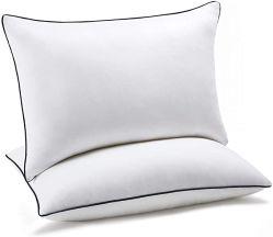 Almohadas cama para dormir 2 Pack de la Reina, de refrigeración alternativa almohadas con relleno de fibra de felpa super suave, de lujo lujosa cama Gel almohadas Set de 2