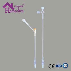 Medical adaptador Luer macho y hembra con el tubo de extensión y sitio de inyección